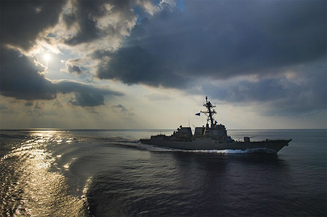 This ship was part of a freedom of navigation exercise in the Indian Ocean in March 2018. (U.S. Navy/Morgan K. Nall)
