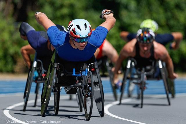 ミネアポリスで開催されたパラリンピック予選大会。5000メートル走の決勝でのローマンチャック (© Christian Petersen/Getty Images)