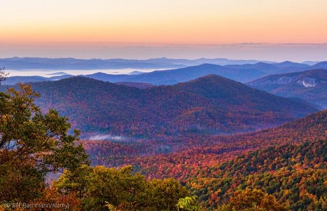 ノースカロライナ州のブルーゾーン、ブレバード (© Bill Bachmann/Alamy)