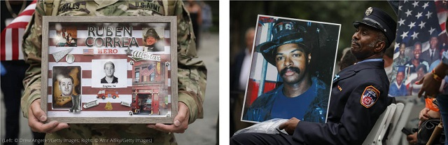 Left: (© Drew Angerer/Getty Images). Right: (© Amr Alfiky /Getty Images)