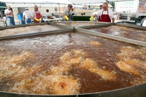 Chicken Festival worlds largest fry pan