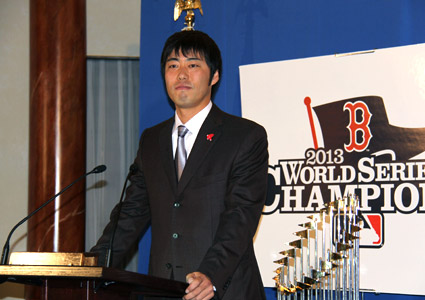 uehara at red sox reception
